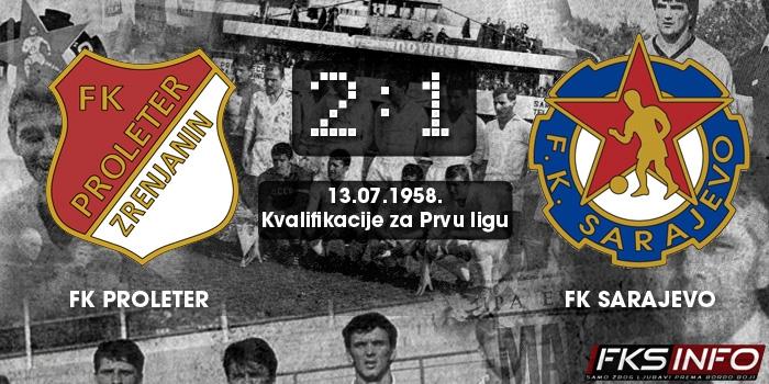 Proleter - Sarajevo 2:1 (13.07.1958.)