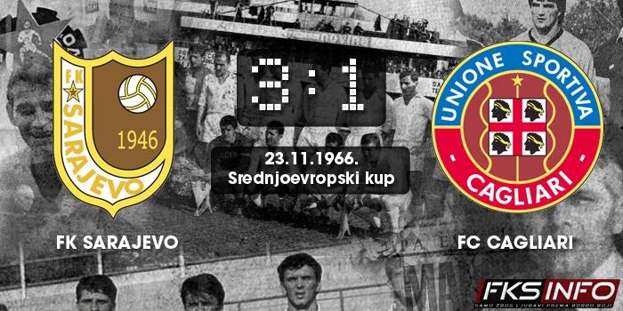 Sarajevo - Cagliari 3:1 (23.11.1966.)
