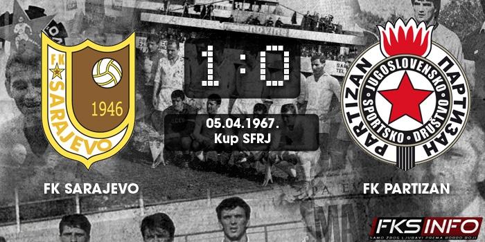 Sarajevo - Partizan 1:0 (05.04.1967.)