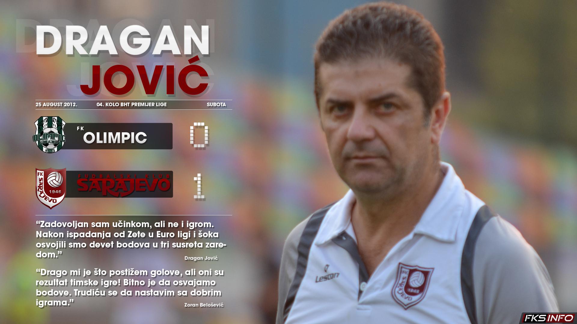 FK Olimpic - FK Sarajevo 0:1 // Dragan Jović